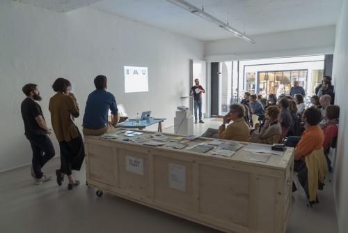 artist talk with INLAND at ar/ge kunst. Foto: BAU