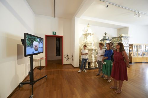 BAU Residency 2018, Nico Angiuli, FUTURA. Mittagstisch in the frameworkf of Transart Festival. Foto: Gregor Kuen Belasi