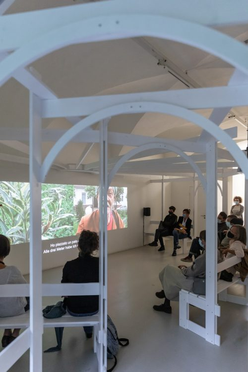 savoir-vivre #6, Erbario Workshop with with Andreas Hilpold and Petra Mair curated by BAU, ar/ge kunst, 30.09.2020 — in the framework of the exhibition Brutal Family Roots by Mohamed Bourouissa curated by Emanuele Guidi © ar/ge kunst — Foto: Luca Guadagnini