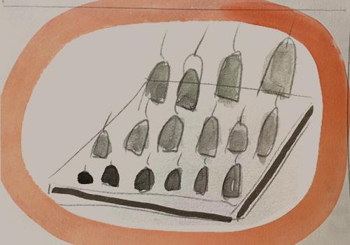 The tuning of the bells. Artwork: Amy Franceschini